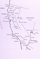Map depicting Native American Tribes of California