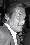 Roger Moore on September 1, 1982 in New York City