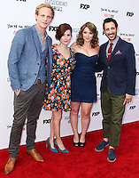 HOLLYWOOD, LOS ANGELES, CA, USA - JULY 14: Aya Cash, Chris Geere, Kether Donohue, Desmin Borges at the Los Angeles Premiere Of FX's 'You're The Worst' And 'Married' held at Paramount Studios on July 14, 2014 in Hollywood, Los Angeles, California, United States. (Photo by Xavier Collin/Celebrity Monitor)