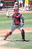 Zach Jones #5 of the Stanford Cardinal plays against the Arizona State Sun Devils on May 1, 2011 at Packard Stadium, Arizona State University, in Tempe, Arizona. .Photo by:  Bill Mitchell/Four Seam Images.