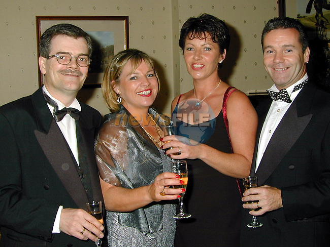 Peter Rafter, Brenda Rafter, Christine McCormack and Paul McKeown at the chamber Ball in the Boyne Valley Hotel.Pic Fran Caffrey / Newsfile