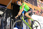 Pierre Rolland (FRA) Cannondale-Drapac team on stage at the Team Presentation in Burgplatz Dusseldorf before the 104th edition of the Tour de France 2017, Dusseldorf, Germany. 29th June 2017.<br /> Picture: Eoin Clarke | Cyclefile<br /> <br /> <br /> All photos usage must carry mandatory copyright credit (&copy; Cyclefile | Eoin Clarke)