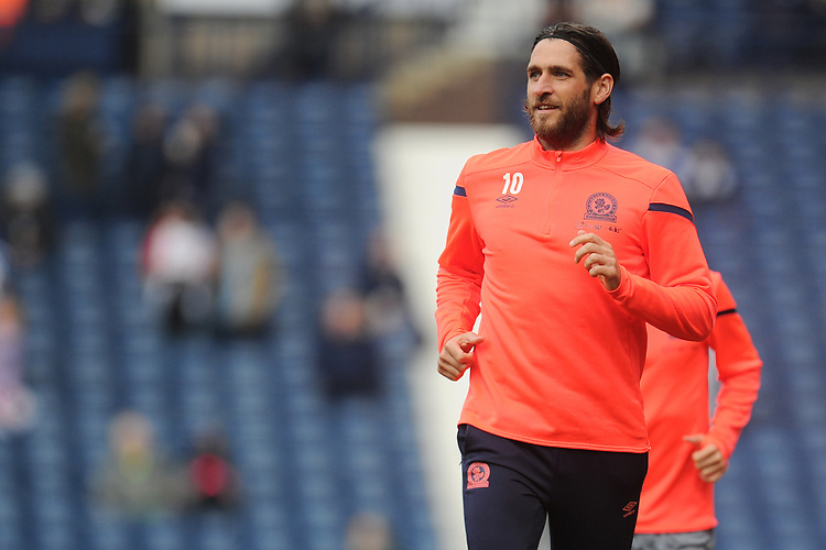 Blackburn Rovers' Danny Graham during the pre-match warm-up <br /> <br /> Photographer Kevin Barnes/CameraSport<br /> <br /> The EFL Sky Bet Championship - West Bromwich Albion v Blackburn Rovers - Saturday 31st August 2019 - The Hawthorns - West Bromwich<br /> <br /> World Copyright © 2019 CameraSport. All rights reserved. 43 Linden Ave. Countesthorpe. Leicester. England. LE8 5PG - Tel: +44 (0) 116 277 4147 - admin@camerasport.com - www.camerasport.com