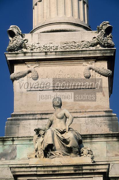 Europe/France/Aquitaine/33/Gironde/Bordeaux: Le monument des girondins