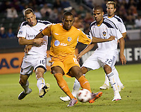 Puerto Rico Islanders Nicholas Addlery (11) attempts a left footed shot on goal. The Puerto Rico Islanders defeated the LA Galaxy 4-1 during CONCACAF Champions League group play at Home Depot Center stadium in Carson, California on Tuesday July 27, 2010.