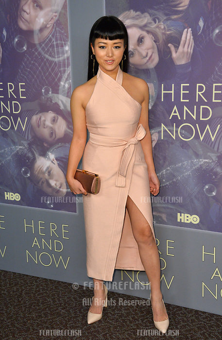 Kiki Sukenzane at the premiere for HBO's &quot;Here and Now&quot; at The Directors Guild of America, Los Angeles, USA 05 Feb. 2018<br /> Picture: Paul Smith/Featureflash/SilverHub 0208 004 5359 sales@silverhubmedia.com