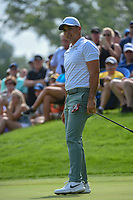 Jason Day (AUS) watches his putt on  on 12 during 1st round of the World Golf Championships - Bridgestone Invitational, at the Firestone Country Club, Akron, Ohio. 8/2/2018.<br /> Picture: Golffile | Ken Murray<br /> <br /> <br /> All photo usage must carry mandatory copyright credit (&copy; Golffile | Ken Murray)