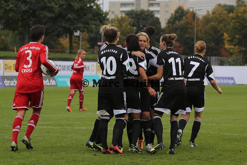 Torjubel um Lira Bajramaj (FFC) beim 2:0 - 1. FFC Frankfurt vs. FC Bayern München