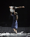EMBARGOED UNTIL 7:30pm 11.04.15. London, UK. 09.04.2015. English National Opera presents the world premiere of Tansy Davies' BETWEEN WORLDS, at the Barbican. Picture shows: Owen Ridley-Demonick and Rosana Ribeiro. Photograph © Jane Hobson.