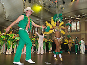 16/17 August 2008, London/UK, North London venue Alexandra Palace hosts the Grand Carnival Costume Splash organised by NHMBA (Notting Hill Mas Bands Association). At this event this season's elaborate carnival costumes are first shown. These costumes will be paraded at the main event, the Notting Hill Carnival, a week later. (Photo: Bettina Strenske)