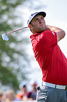Jon Rahm (ESP) watches his tee shot on 7 during round 6 of the World Golf Championships, Dell Technologies Match Play, Austin Country Club, Austin, Texas, USA. 3/26/2017.<br /> Picture: Golffile | Ken Murray<br /> <br /> <br /> All photo usage must carry mandatory copyright credit (&copy; Golffile | Ken Murray)