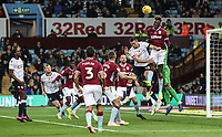 Bolton Wanderers' Jack Hobbs competing with Aston Villa's Tammy Abraham<br /> <br /> Photographer Andrew Kearns/CameraSport<br /> <br /> The EFL Sky Bet Championship - Aston Villa v Bolton Wanderers - Friday 2nd November 2018 - Villa Park - Birmingham<br /> <br /> World Copyright &copy; 2018 CameraSport. All rights reserved. 43 Linden Ave. Countesthorpe. Leicester. England. LE8 5PG - Tel: +44 (0) 116 277 4147 - admin@camerasport.com - www.camerasport.com