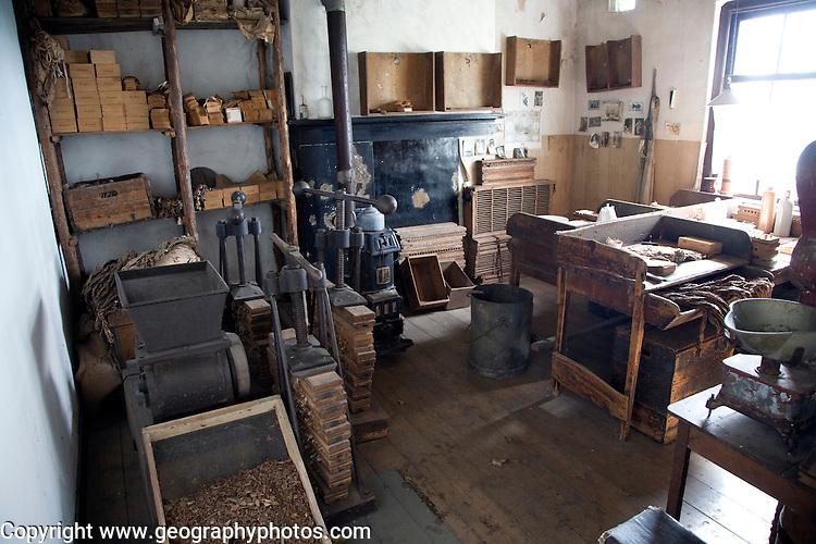 Cigar making, Zuiderzee museum, Enkhuizen, Netherlands