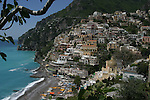 Positano vista during the day. The cliffs, the Village, the Beach.  Breathtaking.  Great placemat photo.