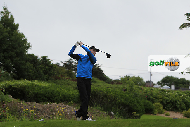 Shane Kearney (Esker Hills) on the 14th tee during R2 of the 2016 Connacht U18 Boys Open, played at Galway Golf Club, Galway, Galway, Ireland. 06/07/2016. <br /> Picture: Thos Caffrey | Golffile<br /> <br /> All photos usage must carry mandatory copyright credit   (&copy; Golffile | Thos Caffrey)