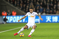 Kyle Naughton of Swansea City during the Premier League match between Swansea City and Liverpool at the Liberty Stadium, Swansea, Wales on 22 January 2018. Photo by Mark Hawkins / PRiME Media Images.