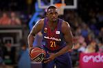 League ACB-ENDESA 2017/2018 - Game: 20.<br /> FC Barcelona Lassa vs Retabet Bilbao Basket: 90-58.<br /> Rakim Sanders.
