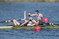Rotterdam. Netherlands. Gold Medalist FRA LM2- Augustin,   MOUTERDE and Alexis GUERINOT, 2016 JWRC, U23 and Non Olympic Regatta. {WRCH2016}  at the Willem-Alexander Baan.   Saturday  27/08/2016 <br /> <br /> [Mandatory Credit; Peter SPURRIER/Intersport Images]