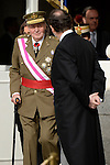 King Juan Carlos I of Spain and the President of the Government of Spain Mariano Rajoy during the Pascua Militar ceremony.January 06 ,2014. (ALTERPHOTOS/Pool)