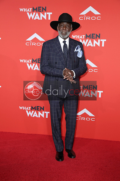 "Richard Roundtree<br /> at the ""What Men Want"" Premiere, Village Theater, Westwood, CA 01-28-19<br /> David Edwards/DailyCeleb.com 818-249-4998"