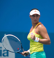 TAMIRA PASZEK..Tennis - Apia Sydney International -  Sydney 2013 -  Olympic Park - Sydney - NSW - Australia.Monday 7th January  2013. .© AMN Images, 30, Cleveland Street, London, W1T 4JD.Tel - +44 20 7907 6387.mfrey@advantagemedianet.com.www.amnimages.photoshelter.com.www.advantagemedianet.com.www.tennishead.net