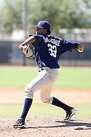 Luis De La Cruz - San Diego Padres - 2010 Instructional League.Photo by:  Bill Mitchell/Four Seam Images..