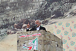 Chairman of the political bureau of the Hamas Palestinian Islamist movement, Ismail Haniyeh speaks during a rally marking the 31th anniversary of the founding of the Hamas movement, in Gaza city, December 16, 2018. Photo by Ashraf Amra