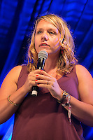 20th July 2014: English comedian and star of Ricky Gervais&rsquo; Derek, Kerry Godliman, plays the Comedy Arena on the fourth day of the 9th edition of the Latitude Festival, Henham Park, Suffolk.<br /> Picture by Stuart Hogben