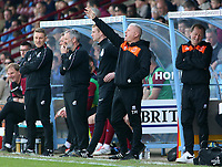 Blackpool's Manager Terry McPhillips shouts instructions to his team<br /> <br /> Photographer David Shipman/CameraSport<br /> <br /> The EFL Sky Bet League One - Scunthorpe United v Blackpool - Friday 19th April 2019 - Glanford Park - Scunthorpe<br /> <br /> World Copyright © 2019 CameraSport. All rights reserved. 43 Linden Ave. Countesthorpe. Leicester. England. LE8 5PG - Tel: +44 (0) 116 277 4147 - admin@camerasport.com - www.camerasport.com