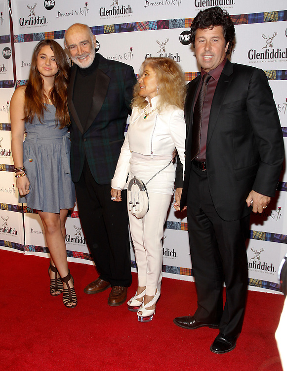 NEW YORK - APRIL 5:   Sean Connery, wife Lady Micheline and family attend the 2010 Dressed to Kilt  at M2 Club April 5, 2010 in New York City. (Photo by Donald Bowers)