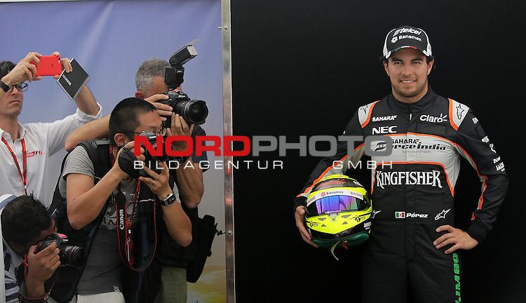 17.03.2016. Albert-Park-Circuit, Melbourne,  AUS, F1, Formula 1 Rolex Australien Grand Prix, Fahrerrvorstellung 2016, im Bild <br />   <br />  <br /> Sergio Perez (MEX#11) Sahara Force India F1 Team<br /> Foto &copy; nordphoto /  Bratic