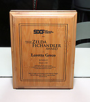 The Zelda Fichandler Award for Loretta Greco at the Second Annual SDCF Awards, A celebration of Excellence in Directing and Choreography, at the Green Room 42 on November 11, 2018 in New York City.