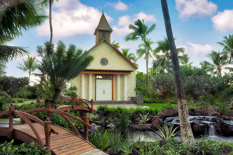 Chapel at Four Seasons Hotel. Ko Olina, Oahu, Hawaii