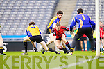 Mark Crowley Kenmare in Action against Eoin Fenton  Ballinasloe in the Junior All Ireland Club Final in Croke park on Sunday.