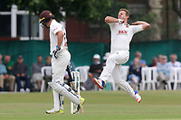 Neil Wagner in bowling action for Essex during Surrey CCC vs Essex CCC, Specsavers County Championship Division 1 Cricket at Guildford CC, The Sports Ground on 11th June 2017