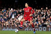 17th March 2019, Craven Cottage, London, England; EPL Premier League football, Fulham versus Liverpool; Virgil van Dijk of Liverpool