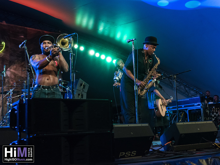 Fishbone performs at the 2014 Voodoo Music Experience in New Orleans, LA.