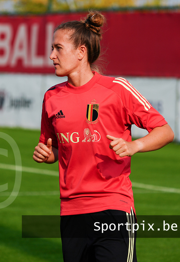 20200911 - TUBIZE , Belgium : Justine Gambosa pictured during a training session of the Belgian Women's National Team, Red Flames , on the 11th of September 2020 in Tubize. PHOTO SEVIL OKTEM| SPORTPIX.BE
