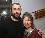Itamar Moses and Gretchen Cryer during the Dramatists Guild Foundation Salon with Playwright Itamar Moses at the Cryer Residence on December 7, 2017 in New York City.
