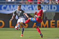 Action photo during the match Costa Rica vs Paraguay, Corresponding Group -A- America Cup Centenary 2016, at Citrus Bowl Stadium<br /> <br /> Foto de accion durante el partido Estados Unidos vs Colombia, Correspondiante al Grupo -A-  de la Copa America Centenario USA 2016 en el Estadio Citrus Bowl, en la foto: (i-d) Bruno Valdez de Paraguay y Ronald Matarrita de Costa Rica<br /> <br /> <br /> <br /> 04/06/2016/MEXSPORT/Isaac Ortiz.