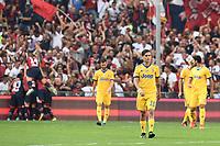 delusione Juventus dejection esultanza Genoa Goal celebration<br /> Genova 26-08-2017 Stadio Marassi Calcio Serie A 2017/2018 Genoa -<br /> Juventus Foto Imagesport/Insidefoto