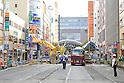 Huge sinkhole in Hakata, Fukuoka