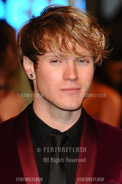 "Dougie Poynter from McFly arriving for the premiere of ""The Hobbit: An Unexpected Journey"" at the Odeon Leicester Square, London. 12/12/2012 Picture by: Steve Vas / Featureflash"