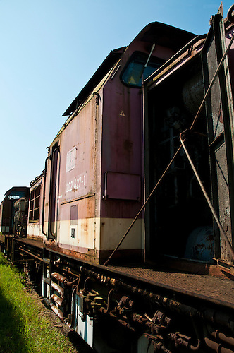 An old train graveyard in Germany