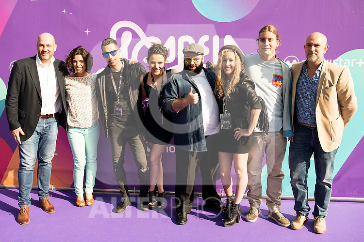 "The jury of the program with Dani Reus and the producers attends to the presentation of the new Movistar+ Talent Show, ""Acapela"" for channel #0 in Madrid. May 26, 2016. (ALTERPHOTOS/Borja B.Hojas)"