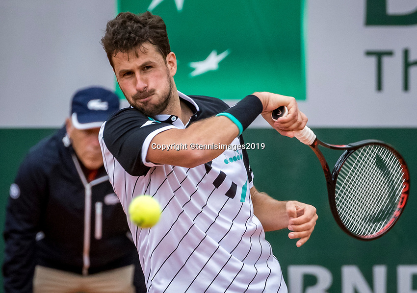 Paris, France, 26 May, 2019, Tennis, French Open, Roland Garros, Robin Haase (NED)<br /> Photo: Henk Koster/tennisimages.com