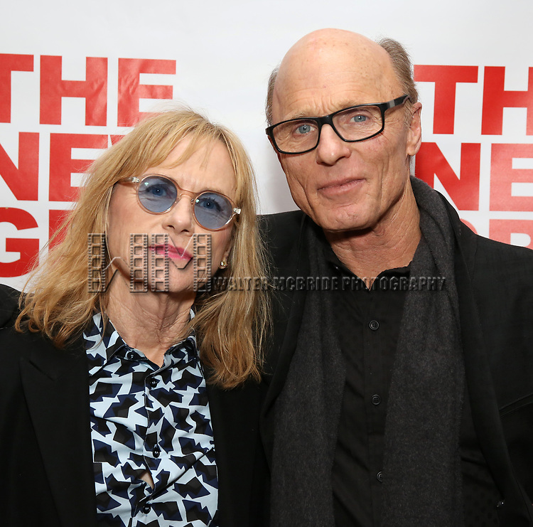 "Amy Madigan and Ed Harris attends The New Group presents the New York Premiere Opening Night of David Rabe's for ""Good for Otto"" on March 8, 2018 at the Green Fig Urban Eatery,  in New York City."
