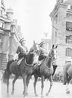 BNPS.co.uk (01202 558833)<br /> Pic: Pen&Sword/BNPS<br /> <br /> PICTURED: F.A.N.Y. contingent at the Lord Mayor's Show in the City of London, early 1950s.<br /> <br /> These inspiring photos of nurses on the front line feature in a new book which charts a century's heroic wartime service.<br /> <br /> The First Aid Nursing Yeomanry (FANY) was founded in 1907 by Captain Edward Baker with the early recruits trained in cavalry, signalling and camping.<br /> <br /> They were despatched to France at the outset for World War One to tend to injured troops on the battlefield, setting up hospitals for the many casualties. Other heroines dragged wounded personnel from exploding ammunition dumps.<br /> <br /> The brave nurses were again in the centre of the action in World War Two, performing sterling work in the harshest of conditions.<br /> <br /> Their stories feature in The First Aid Nursing Yeomanry in War and Peace, by Hugh Popham.