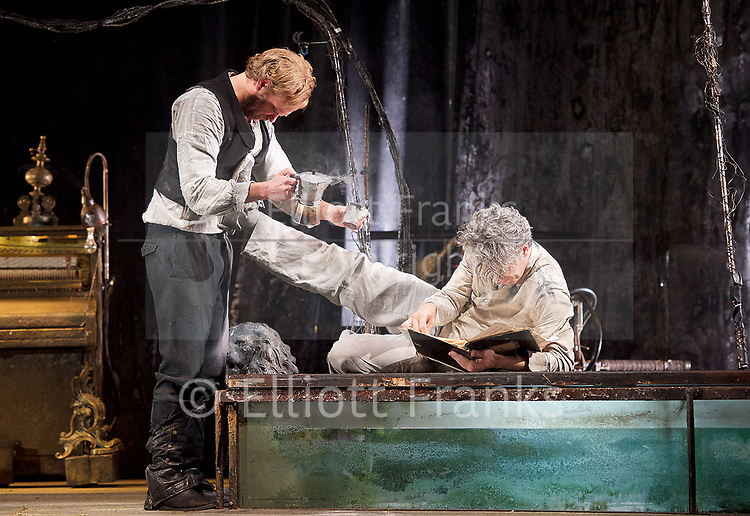 The Toad Knew <br /> James Thierree / Compagnie du Hanneton <br /> at Sadler's Wells, London, Great Britain <br /> Press photocall <br /> 3rd May 2017 <br /> <br /> Herve Lassince <br /> James Thierree<br /> <br /> Photograph by Elliott Franks <br /> Image licensed to Elliott Franks Photography Services