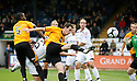 Rory McAuley of Cambridge United shoots wide during the Blue Square Bet Premier match between Cambridge United and Newport County at the Abbey Stadium, Cambridge  on 25th September, 2010.© Kevin Coleman